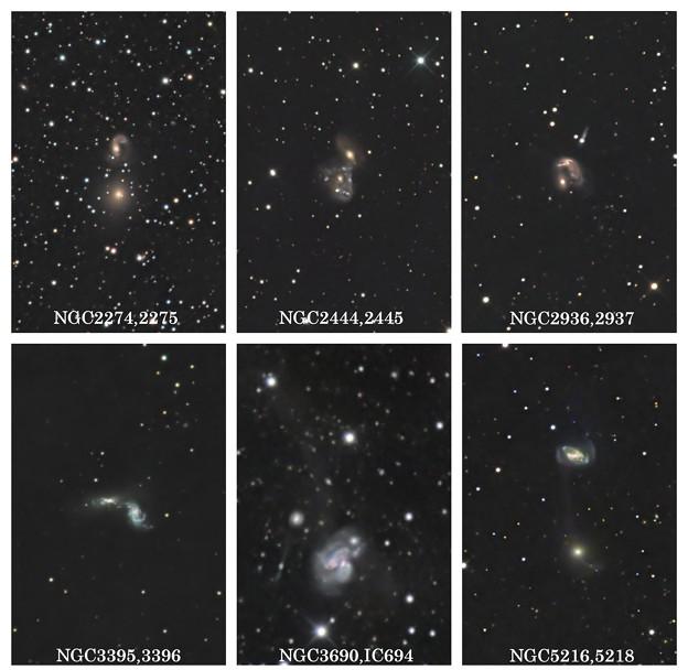 接近、相互作用銀河する銀河たち
