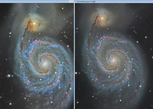 M51 Cooled CCD vs CMOS LuckyImaging