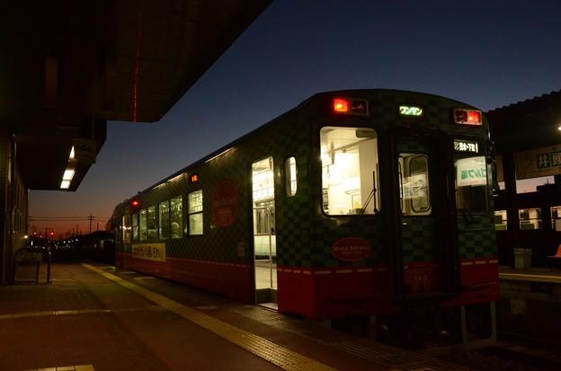 真岡駅冬の黄昏時