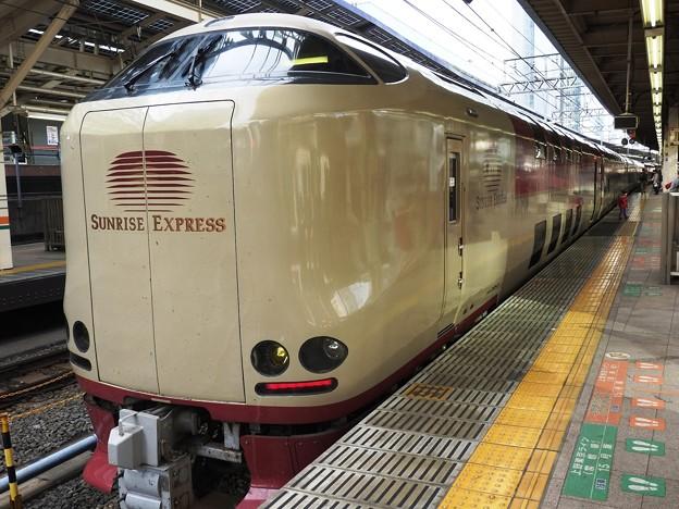 Photos: サンライズ瀬戸・出雲号東京8番到着 ひと晩お世話になりました♪