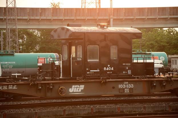 夕陽の貨物駅にて