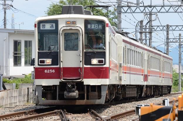 東武6050系普通東武日光行き下今市入換え入線