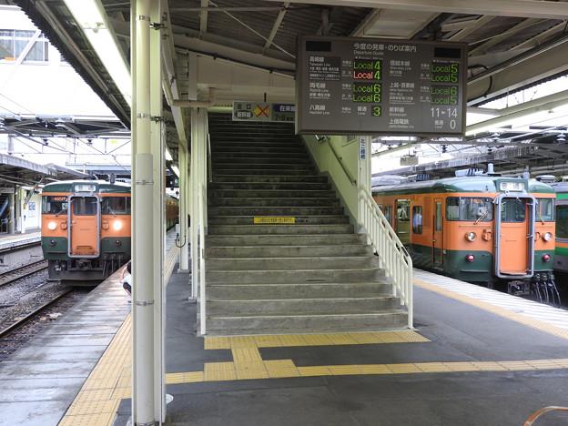 高崎駅115系並び