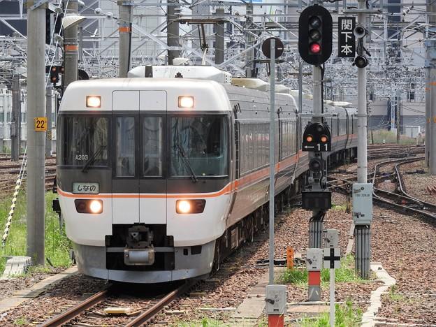 383系ワイドビューしなの6号 名古屋到着