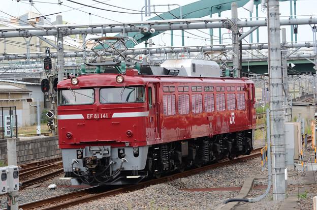 長岡のEF81 141号機 大宮入線