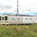 Photos: 思川橋梁に向かう「ありがとう107系の旅」号