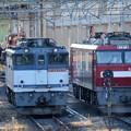 写真: 宇都宮貨物(タ)夕刻の機関車入換え