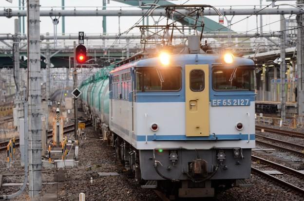 EF65 2117(カラシ)牽引石油返空貨物8876レ