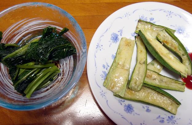 2017-09-14空心菜とオクラ