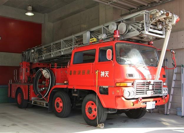 和歌山県有田市消防本部 30m級梯子付ポンプ車        「天神」(高所放水車仕様)
