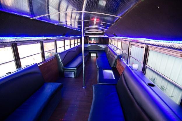 Party Bus For Atlanta | Black Bear Bus | 35 Passengers | Restroom