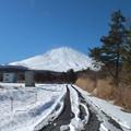 富士山に続く道