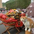 戸倉上山田温泉巨大獅子舞と2ショット