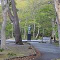 140518-9東北ツーリング・十和田湖・見えてきた乙女の像