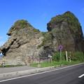 140829-31北海道ツーリング・親子熊岩