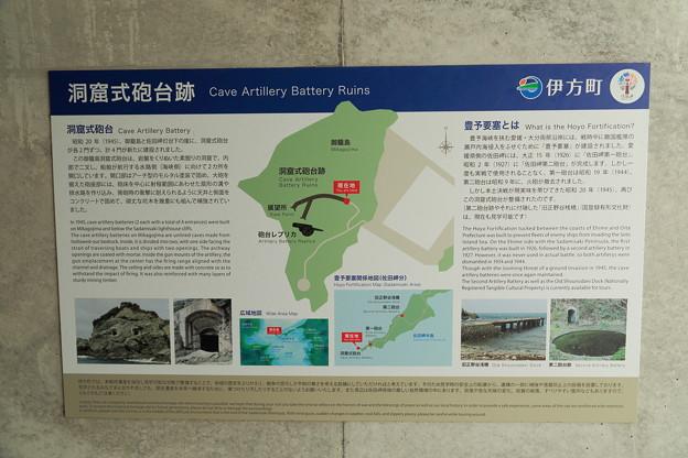 豊予要塞・御籠島洞窟式砲台跡案内図