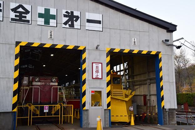 写真: 小坂鉄道レールパーク 機関庫