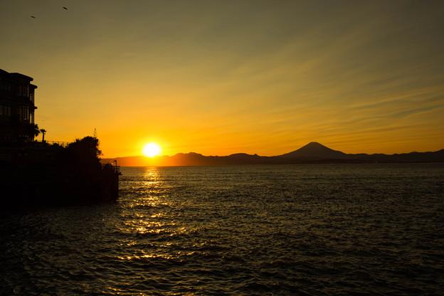 江の島弁天橋からの夕景