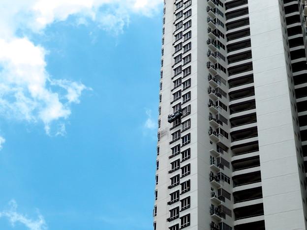 高層ビルの塗装・1