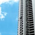 写真: 高層ビルの塗装・1