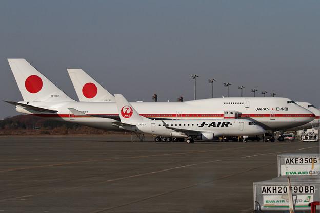 ERJ-170 JALとB747 政府専用機