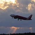 Photos: A320 Peach JA809P takeoff