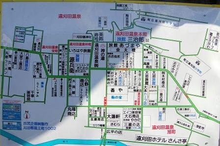 遠刈田の地図