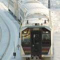 写真: 新型電気式気動車GV-E400系 新津運輸区構内試運転