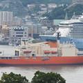写真: 南極観測船しらせ出港 6