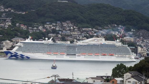 写真: マジェスティック・プリンセス入港