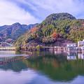 紅葉、松原湖
