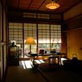 写真: 書斎に差す冬の陽