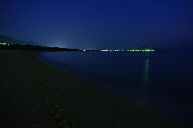 夜の室積海岸