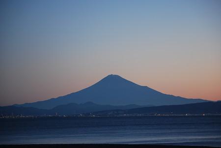 シルエット富士 2014.11.15