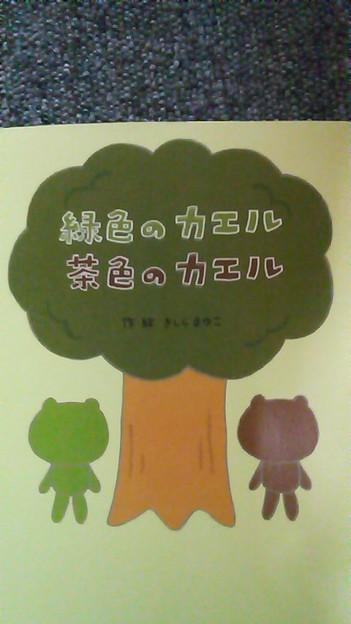 写真: 私は‥緑色のカエルに既に出逢った茶色のカエルですo(^-^)o皆さんはどっ...