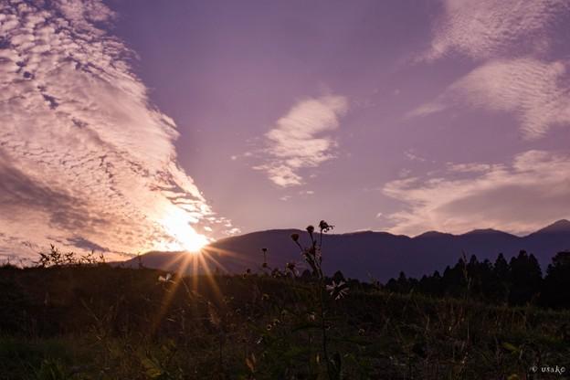 10月の夕日
