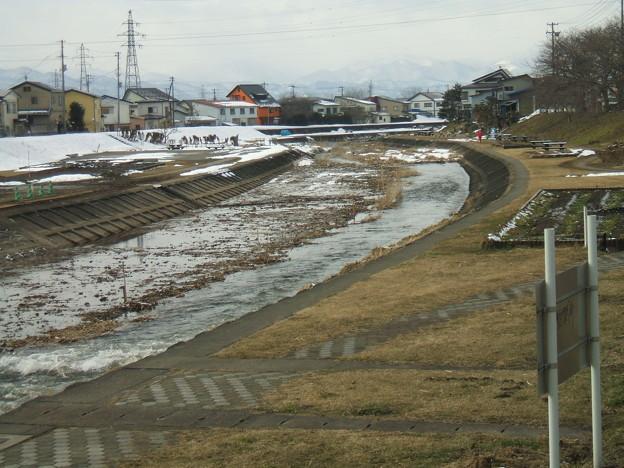 天神町付近の冬の湯川 - 2
