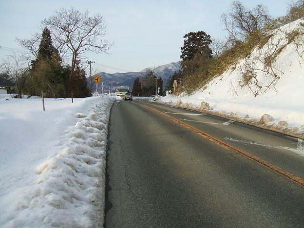 福島県道64号の冬 - 明ル坂 - ピーク
