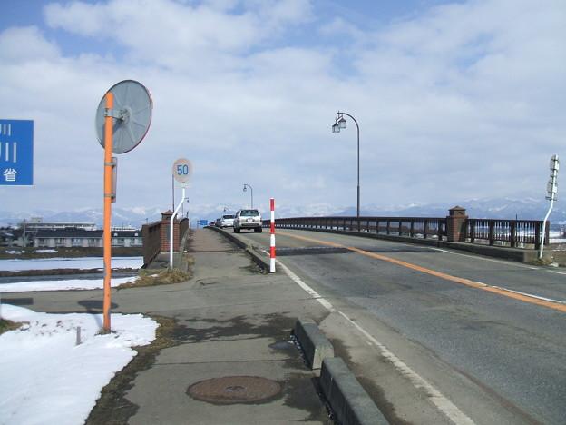 冬の国道121号 - 東大橋 - 2