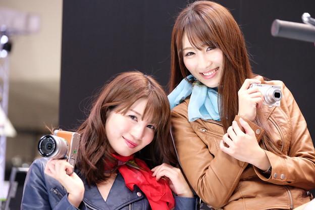 CP+の富士フィルムブース、最高です! 小暮あきさん、渡辺順子さん