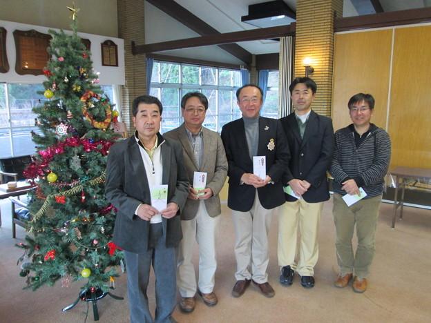 写真: 足利カントリークラブBクラスラストコール杯で入賞した康さん、高さん、赤さん、江さん、北先輩2014.12.21