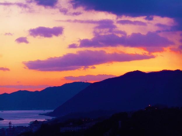 鉢ケ峰の落日