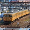 四両編成のJR山陽が 尾道駅に到着