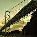 因島大橋の夕暮れ@夏のしまなみ海道
