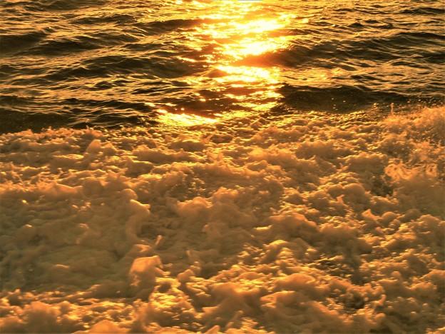 船旅の夕陽@燧灘(ひうちなだ)