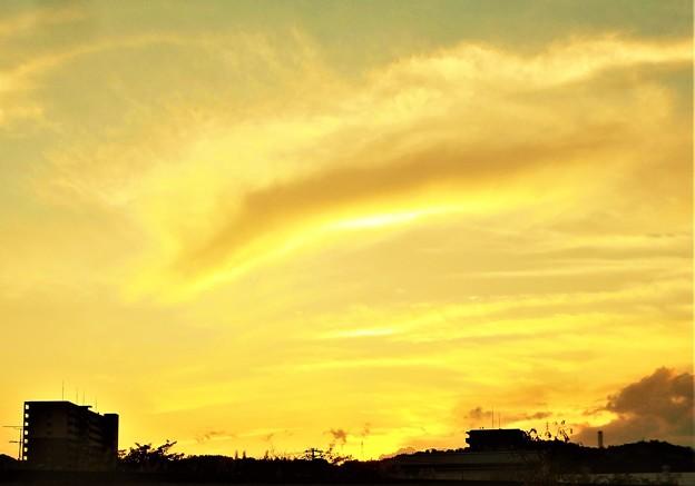 九月の夕空