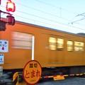 写真: 夕暮れの晩秋列車@馬場の甲踏切