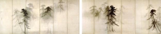 長谷川等伯筆 松林図屏風(東京国立博物館蔵)