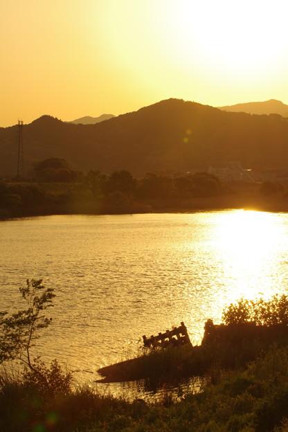 写真: 夕陽