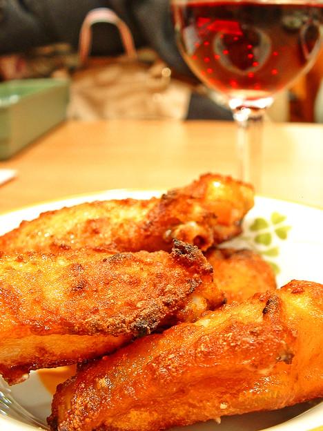 サイゼリヤ ( 成増 )  辛味チキン + ランブルスコ セッコ